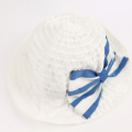 【セール10%OFF】LaLa Dress (ララドレス) バカンスハット 白×ブルー L(54cm)