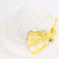 【新春セール】LaLa Dress (ララドレス) ホリデイキャップ 白×イエロー L(54cm)