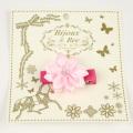 bijoux&bee(ビジューアンドビー) サテンリボン花のヘアクリップ ピンク Free     【おまかせ配送で送料お得】◆