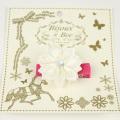 bijoux&bee(ビジューアンドビー) サテンリボン花のヘアクリップ ホワイト Free     【おまかせ配送で送料お得】◆