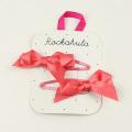 Rockahula KIDS(ロカフラキッズ) プリティリボンクリップ2本セット コーラルピンク     【おまかせ配送で送料お得】◆