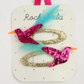 Rockahula KIDS(ロカフラキッズ) GlitterHummingbirdClips グリッターハミングバードクリップ ピンクゴールド Free     【おまかせ配送で送料お得】◆