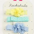Rockahula KIDS(ロカフラキッズ) FlowerGrosgrainClips フラワーグログランクリップ ブルーセット Free     【おまかせ配送で送料お得】◆