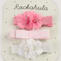 Rockahula KIDS(ロカフラキッズ) FlowerGrosgrClipsain フラワーグログランクリップ ピンクセット Free     【おまかせ配送で送料お得】◆