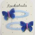 Rockahula KIDS(ロカフラキッズ) MiniButterflyClips ミニバタフライクリップ ブルー Free     【おまかせ配送で送料お得】◆