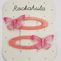 Rockahula KIDS(ロカフラキッズ) MiniButterflyClips ミニバタフライクリップ ピンク Free     【おまかせ配送で送料お得】◆