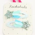 Rockahula KIDS(ロカフラキッズ) ShootingstarGlitterClips 流れ星グリッタークリップ ブルー Free     【おまかせ配送で送料お得】◆