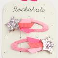 Rockahula KIDS(ロカフラキッズ) ShootingstarGlitterClips 流れ星グリッタークリップ ピンク Free     【おまかせ配送で送料お得】◆