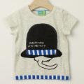 【在庫処分セール60%OFF】HOMe(ホーム) へんしん帽子ネコTシャツ オートミール 80cm 90cm