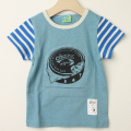 【セール30%OFF】HOMe(ホーム) chazzコラボ変身Tシャツ ブルー 100cm 110cm