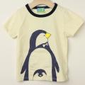 【セール30%OFF】HOMe(ホーム) 変身ペンギンTシャツ オフホワイト 100cm 110cm