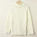 【セール30%OFF】studio momo(スタジオモモ) フリルタートル長袖シャツ オフ白 100cm 110cm 120cm