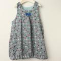 【セール15%OFF】studio momo(スタジオモモ) リバーシブルバルーンジャンパースカート グレー 110cm 120cm 【送料無料】
