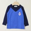 【在庫処分セール50%OFF】(秋冬)TAPPET(タペット) 長袖Tシャツ シップ ブルー 90cm