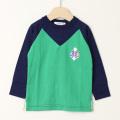 【在庫処分セール50%OFF】(秋冬)TAPPET(タペット) 長袖Tシャツ シップ 緑 100cm