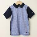 【セール20%OFF】TAPPET(タペット) チェックポロシャツ ブルー 110cm 120cm    【おまかせ配送で送料お得】