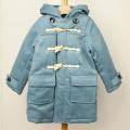 【セール15%OFF】TAPPET(タペット) ウールロングダッフルコート ブルー 110cm 120cm    【送料無料】