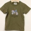 【在庫処分セール50%OFF】(春夏)TAPPET(タペット) ダックスTシャツ カーキ 100cm     【おまかせ配送で送料お得】
