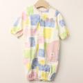 【セール30%OFF】WHIP CREAM(ホイップクリーム) ブロックプリントミニ裏毛2WAYドレス ピンク 50cm-60cm
