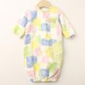 【セール30%OFF】WHIP CREAM(ホイップクリーム) ブロックプリントミニ裏毛2WAYドレス イエロー 50cm-60cm