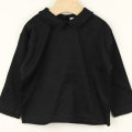 【セール20%OFF】mimi poupons.(ミミプポン) えり付きL/S-Tshirt ブラック 2才 4才    【おまかせ配送で送料お得】
