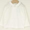 【新春セール】mimi poupons.(ミミプポン) えり付きL/S-Tshirt 白 2才 4才    【おまかせ配送で送料お得】
