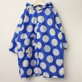 【セール15%OFF】maarook(マルーク) ドットレインコート 巾着付き ブルー×白 110cm 120cm