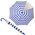 【セール10%OFF】MR(マル) ストライプ柄傘 ブルー S(45cm) M(50cm)