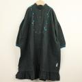 【セール30%OFF】(秋冬)MoL(モル) ネックレスシャツワンピ グリーン 110cm 120cm