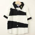 【セール20%OFF】MoL(モル) オニのシャツ イナズマイエロー オフ白 100cm 110cm  【送料無料】