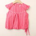 【セール30%OFF】Eponime(エポニーム) topi rose 裾しぼりドットノースリーブシャツ ピンク 5才 6才 【おまかせ配送で送料お得】