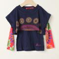【在庫処分セール70%OFF】Desigual(デシグアル) 長袖Tシャツ 2in1セット紺X花火 5才-6才