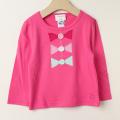 【在庫処分セール60%OFF】Bonnie baby(ボニーベイビー) リボン長袖Tシャツ ピンク 2才ー3才