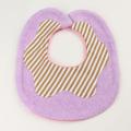 Couverture(クウベルチュール) doughnutビブ ベリー パープルXブラウンストライプ【おまかせ配送で送料お得】◆