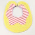 Couverture(クウベルチュール) doughnut ビブ バナナ 黄色Xピンクストライプ【おまかせ配送で送料お得】◆