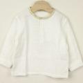 【セール30%OFF】NAOMI ITO(ナオミイトウ) ヘンリーネックシャツ オフホワイト 80cm 90cm    【おまかせ配送で送料お得】