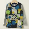 【セール30%OFF】FlyPiglet(フライピグレット) 接結顔料プリント長袖Tシャツ グレー 100cm 110cm    【おまかせ配送で送料お得】