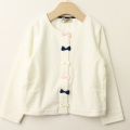 【セール15%OFF】Bizzu(ビズー) リボンカーディガン ホワイト 110cm 120cm