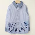 【セール30%OFF】FlyPiglet(フライピグレット) 海柄長袖シャツ ブルー 110cm 120cm    【おまかせ配送で送料お得】