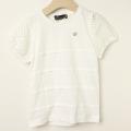 【新春セール】Chien Chien(シアンシアン) 袖レースパターンメッシュTシャツ ホワイト 110cm 120cm    【おまかせ配送で送料お得】