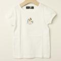 【新春セール】Chien Chien(シアンシアン) 天竺ボタンモチーフ付きTシャツ ホワイト 110cm 120cm    【おまかせ配送で送料お得】