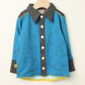【在庫処分セール50%OFF】AlbaBaby(アルバベイビー) Fililon Shirts長袖シャツ ブルー 98cm 110cm