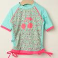【在庫処分セール50%OFF】(春夏)Elly la Fripouille(エリーラフリップイユ) UVカット ラッシュガード T-shirt Jardin Secret ブルー 2才-3才 3才-4才 4才-5才 【おまかせ配送で送料お得】