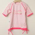 【セール30%OFF】Elly la Fripouille(エリーラフリップイユ) UVカット ラッシュガード T-shirt Ma petit Cherie ピンク 12ヶ月-18ヶ月 2才-3才 3才-4才    【おまかせ配送で送料お得】