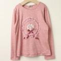 【セール30%OFF】SHAMROCLOTHING(シャムロックロージング) キラキラブーケ長袖Tシャツ ピンク 120cm