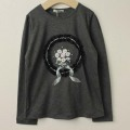 【セール30%OFF】SHAMROCLOTHING(シャムロックロージング) キラキラブーケ長袖Tシャツ グレー 120cm