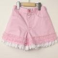 【セール30%OFF】SHAMROCLOTHING(シャムロックロージング) 裾レースショートパンツ ピンク 120cm