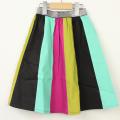 【セール20%OFF】(秋冬)UNICA(ユニカ) 色とりどりスカート ミント 120cm 130cm 140cm
