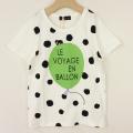 【セール20%OFF】(春夏)UNICA(ユニカ) バルーンTシャツ ホワイト 120cm 130cm    【おまかせ配送で送料お得】