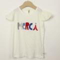 【セール15%OFF】nino(ニノ) MERCITシャツ オフホワイト 130cm 140cm    【おまかせ配送で送料お得】